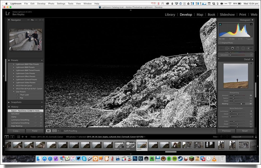 editing photos for instagram in lightroom