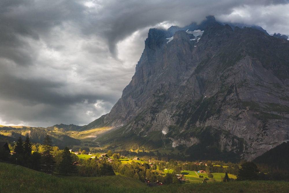 Wetterhorn clouds