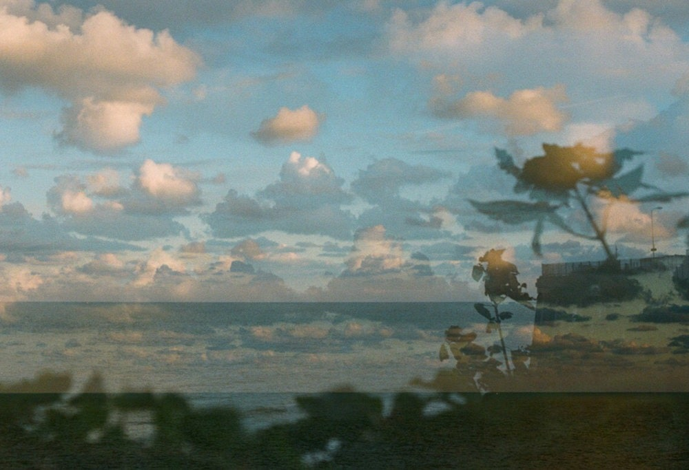 A double exposure of Viking Bay in Broadstairs taken with the Nikon FM2.
