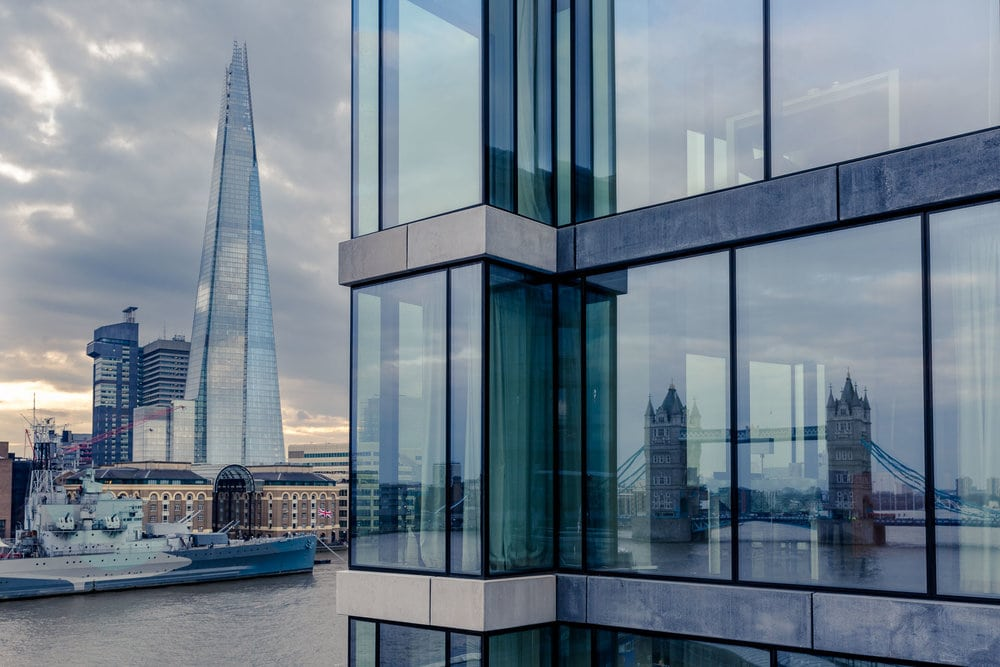 paid photography image of London bridge and the shard