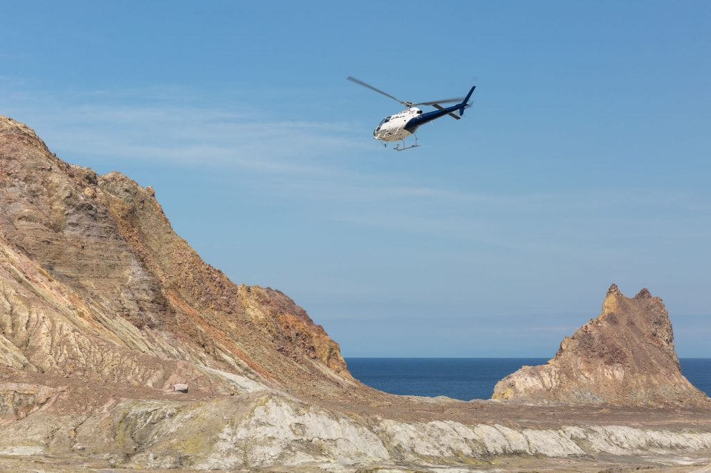 helicopter tours white island