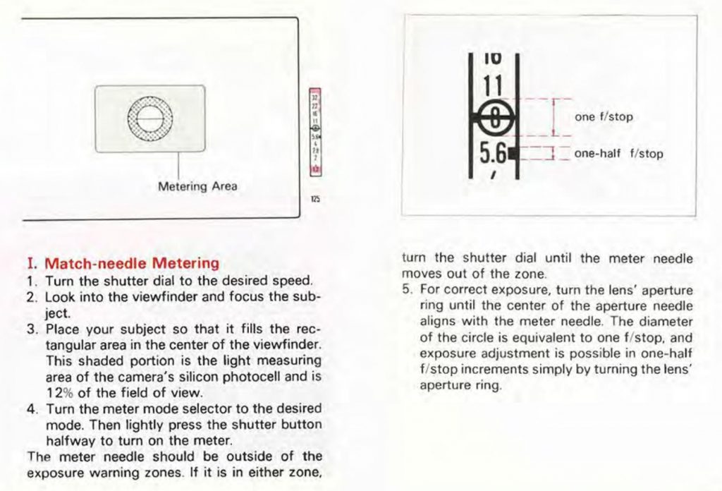 canon f1 metering