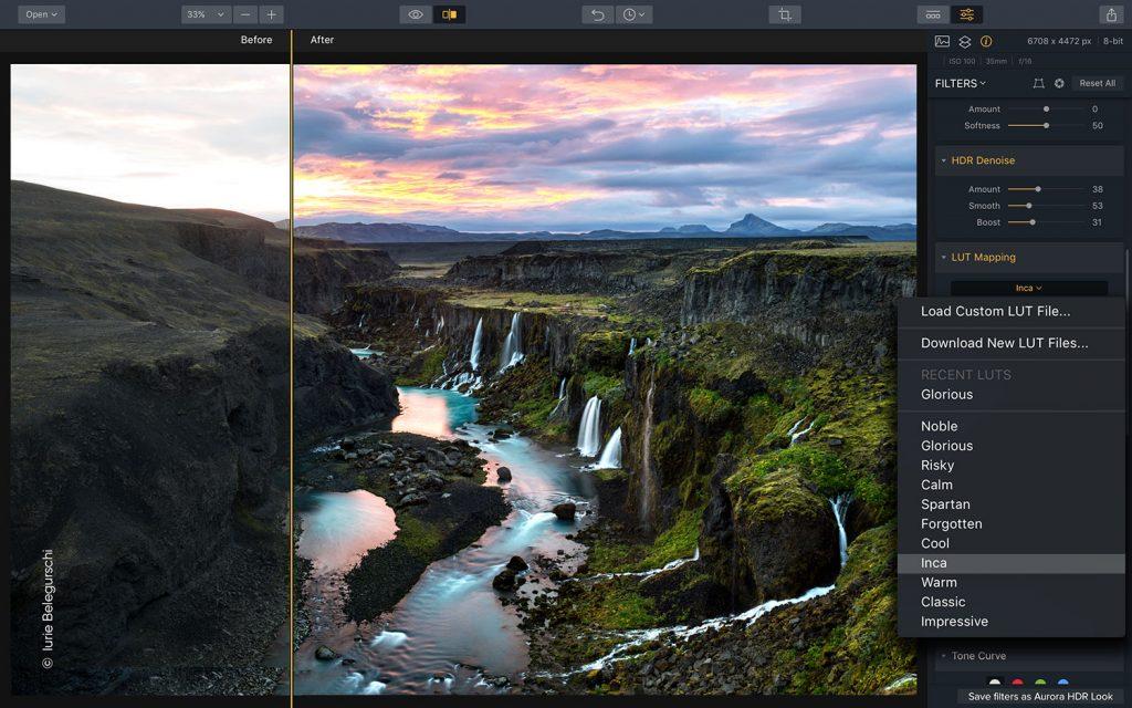 aurora HDR image