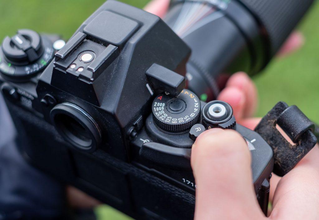 rewind film camera