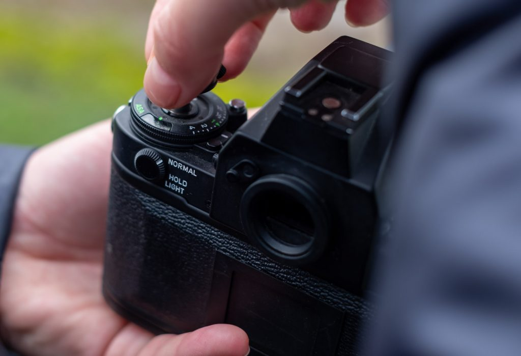 how to open film camera